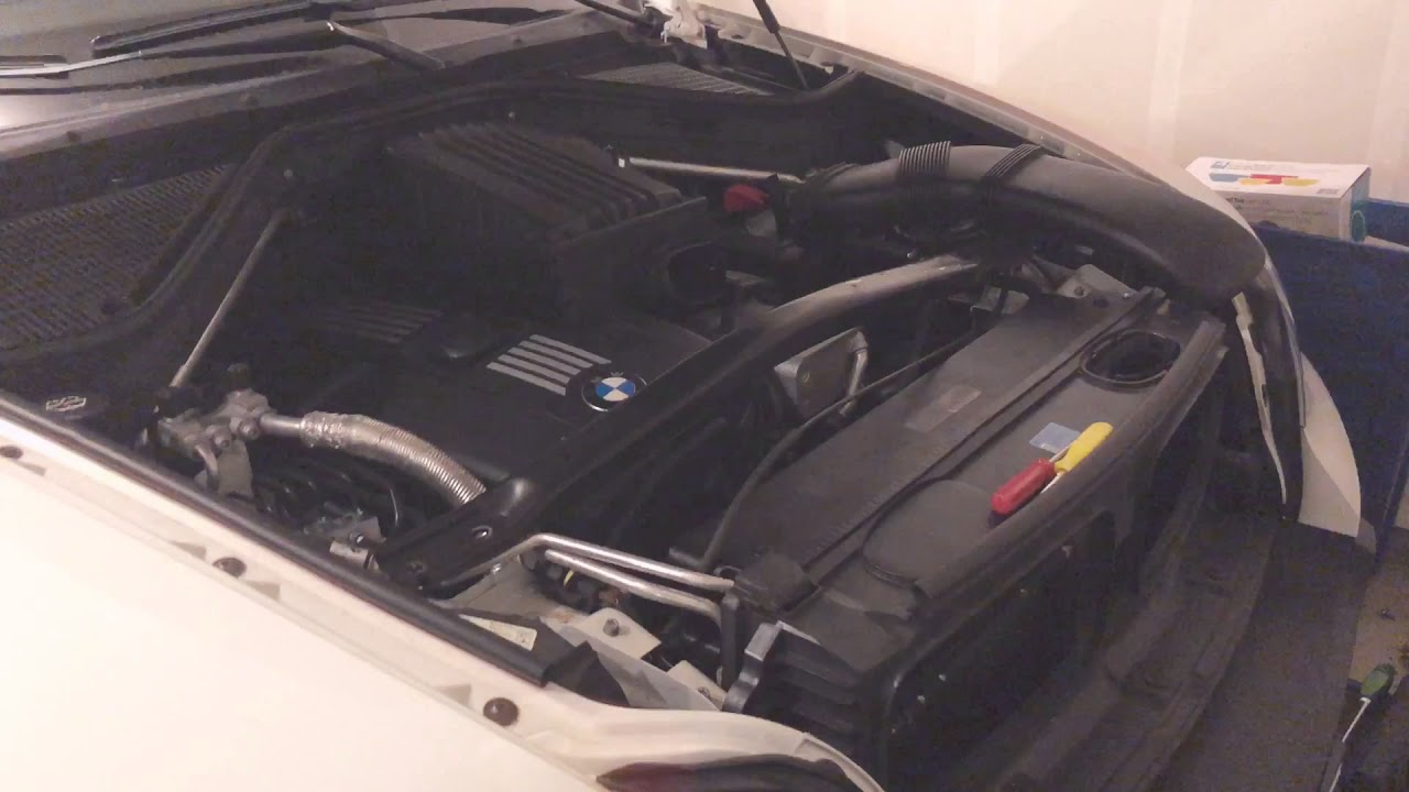 bmw e70 x5 radiator removal replacement diy [ 1280 x 720 Pixel ]