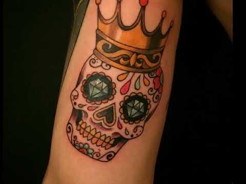 Small Sugar Skull Tattoo The Popular Tattoo Design