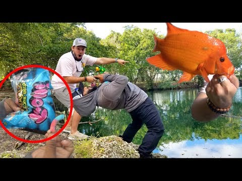 CATCHING RARE FISH WITH SOUR CANDY!!