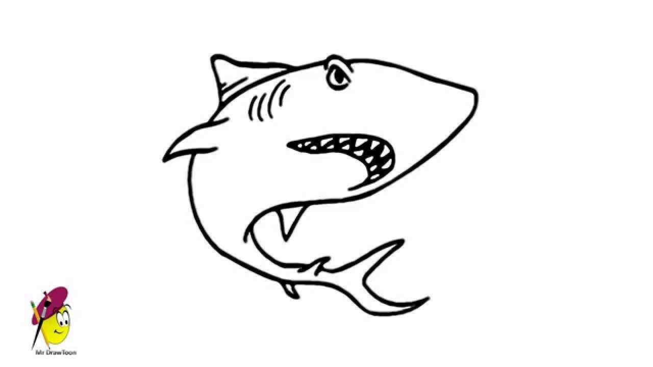 Uncategorized How To Draw A Sea Creature shark sea creatures and animal drawing how to draw a youtube