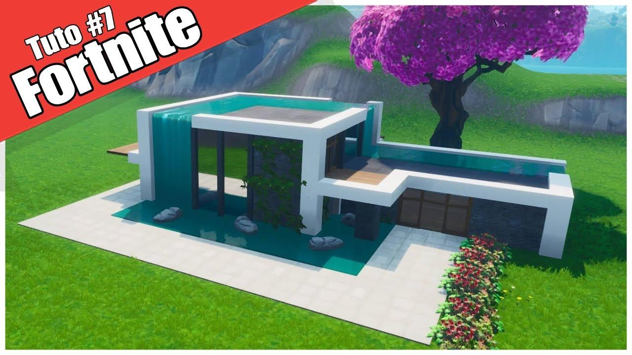 Fortnite créatif - Tuto maison moderne de luxe - fr