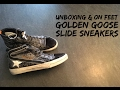 Golden Goose Slide 'Savage Black Suede' | UNBOXING & ON FEET | fashion shoes | 2017 | HD