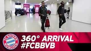 360°! the arrival of the teams! | fc bayern vs. borussia dortmund