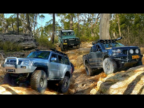 4x4 @ Appin - Ford Ranger vs Land Rover 110 vs Nissan Patrol