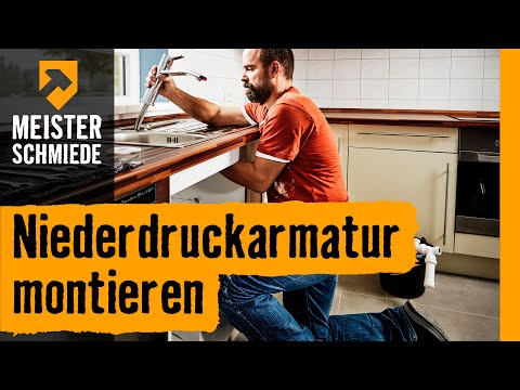 niederdruckarmatur montieren hornbach meisterschmiede youtube. Black Bedroom Furniture Sets. Home Design Ideas