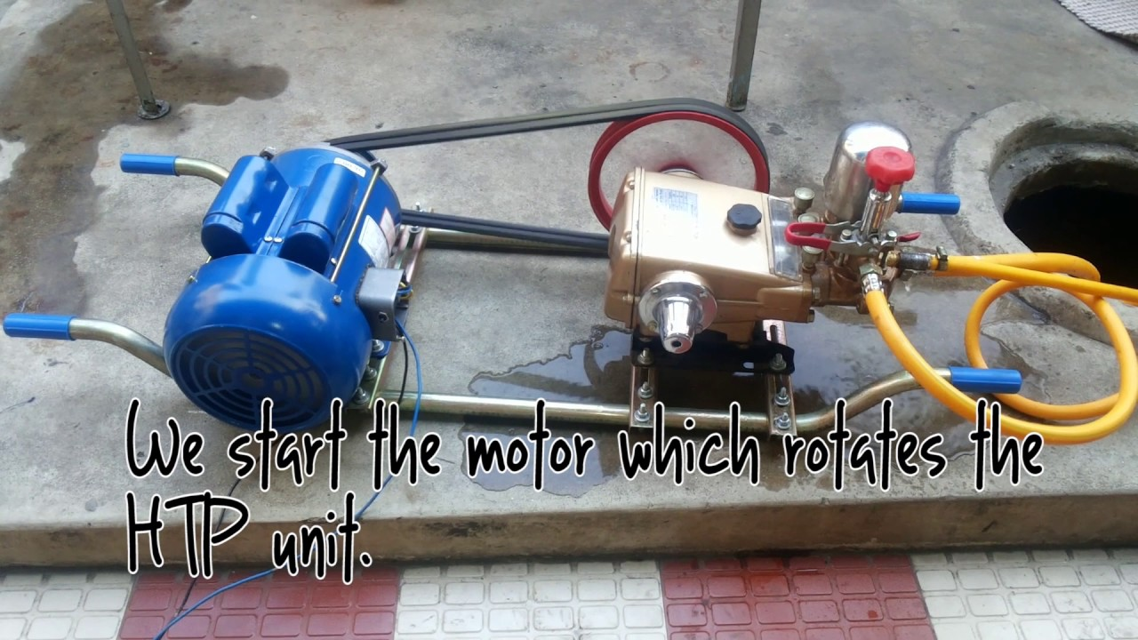 Amazing water jet wash with htp pump and electric motor Car wash motor pump
