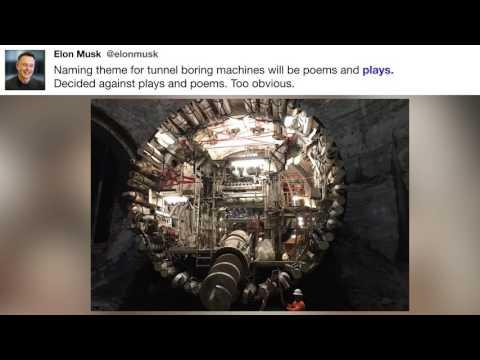 @elonmusk - Naming theme for tunnel boring machines ...
