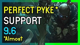 Almost PERFECT PYKE GAME - Support League of Legends 9.6
