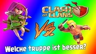 Barbaren gegen Bogenschützen! - Clash of Clans