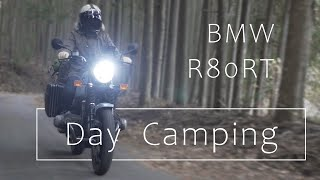 BMW R80 RT motorcycle Day Camping
