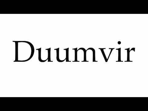 How to Pronounce Duumvir