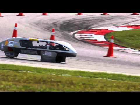 Shell Eco-car Marathon Asia 2011: NTU Nanyang Venture III Solar car in action