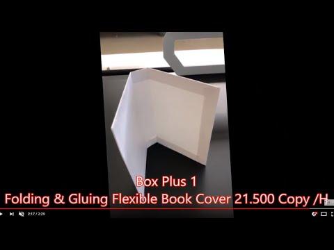 Flexible book cover 20.000 copie ore by Box Plus 1 smart folder gluer machine