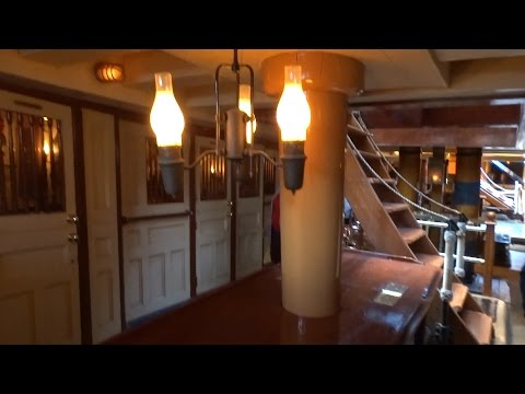 Sailing Ship Columbia tour of deck and crew's quarters during final week at Disneyland 2016