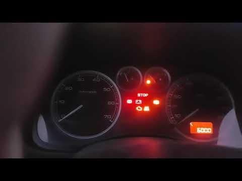 Peugeot 307, показания датчика топлива