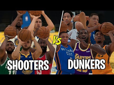 NBA Team of  'Shooters' vs Team of 'Dunkers' | NBA 2K19 Challenge |
