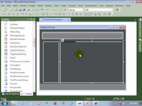 Visual Studio 2010 Tutorial Form Design Youtube