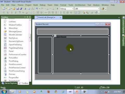 Visual Studio 2010 tutorial Form design - YouTube