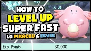 How to level up SUPER FAST in Pokemon Lets Go Pikachu and Eevee - Easy Level 100!