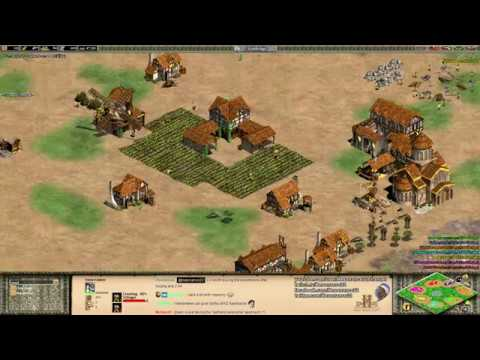 Aoe2: Crazy FFA KotH - Mass Teutonic Knights Rush