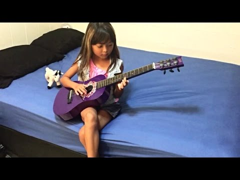 Amazing Guitar Solo On Kids Toy First Act
