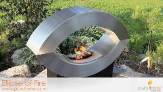Pureflame Ellipse Free Standing Ethanol Fireplace