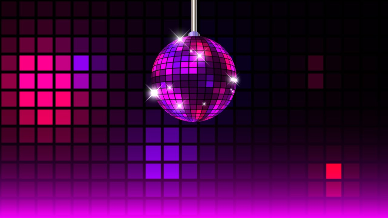 Disco ball party video background free youtube for 1234 get on the dance floor songs download