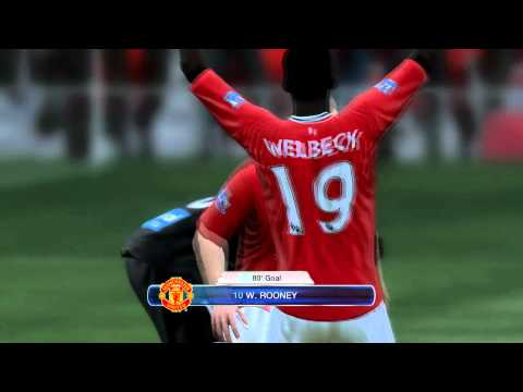 FIFA 12 Wayne Rooney Goal Celebration Glitch