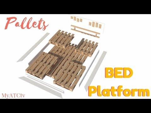 BEDI // DIY pallet BED platform + Free plan
