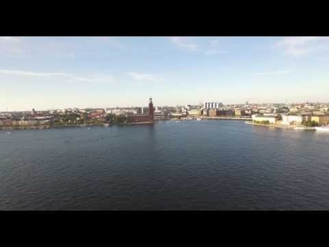 Sweden Stockholm City Hall and Södermalm in 4K (UHD)