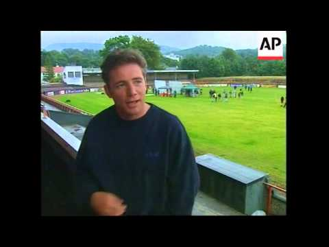 Robert Duvall on set of football film
