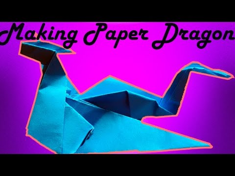 Origami Dragon - How To Make An Easy Origami Dragon - Making Paper Dragon very Easily At Home