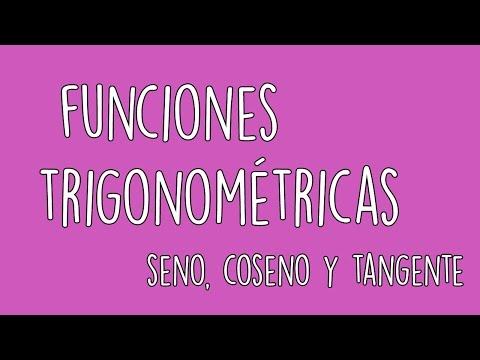 SENO, COSENO Y TANGENTE | FUNCIONES TRIGONOMÉTRICAS