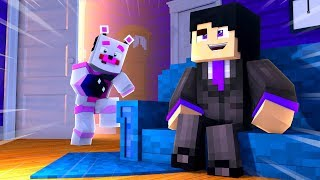 Sneaking Into The Secret House! Minecraft FNAF Roleplay