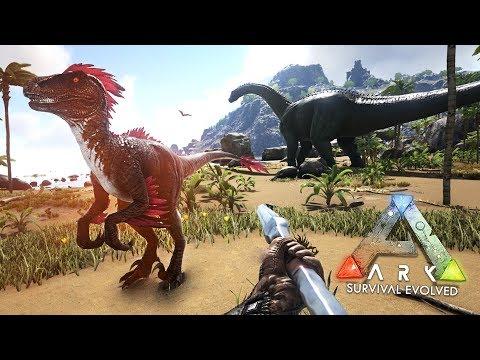 ARK: Survival Evolved - ALPHA RAPTOR & TAMING SABERTOOTH TIGERS!! (ARK Ragnarok