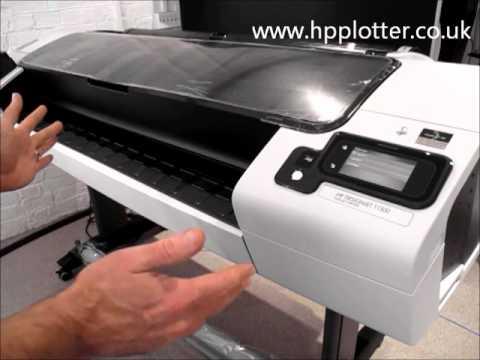 Hp Designjet T1300 Printer How To Load Rolls Of Media