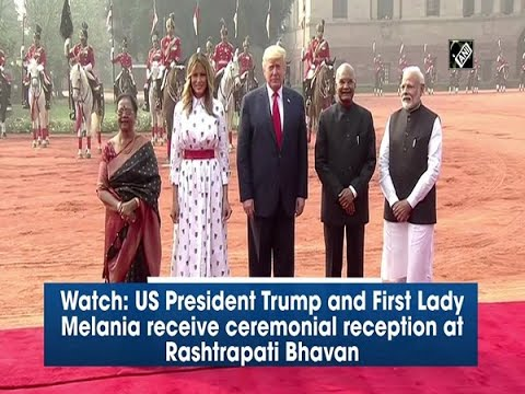 Watch: US President Trump and First Lady Melania receive ceremonial reception at Rashtrapati Bhavan