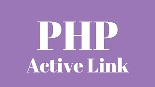 Adding an active class link to menu items when using PHP include function