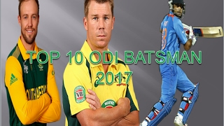 icc odi cricket rankings 2017 top 10 batsmen ll top 10 odi batsman 2017
