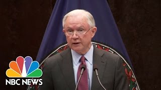 Jeff Sessions: 'Just Say No' Drug Prevention Campaign Will Combat Crime | NBC News