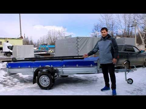 МЗСА 817712 | Прицеп со стапелем для перевозки лодки ПВХ | ЦЛП АРИВА