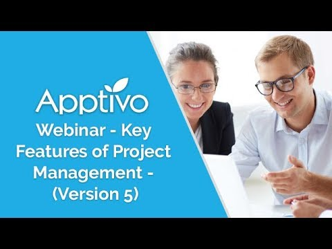 Apptivo Webinar - Key Features of Project Management - (Version 5). This is a quick 5 minute video that introduces the key features added in Apptivo Projects V5. This video is for existing users who are looking to take advant.... Youtube video for project managers.