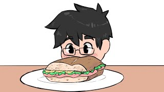 JoCat Eats a Sandwich