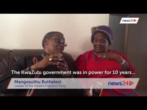 WATCH: Mangosuthu Buthelezi, sister reunite on his campaign trail