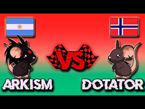 TRANSFORMICE | Arkism Vs Dotator | RACING