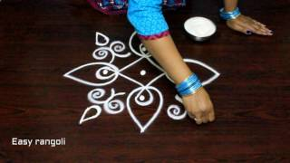 creative rangoli designs with dots || easy muggulu designs || simple kolam designs