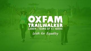 Oxfam Trailwalker Bengaluru