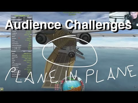 Poodle To Orbit & Flying Planes Through Things - Kerbal Challenges