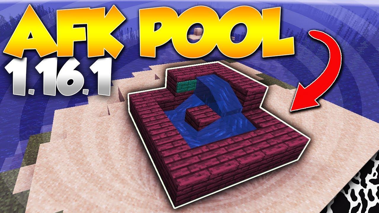 Minecraft Afk Pool Tutorial 1 16 1 2020 Working Youtube