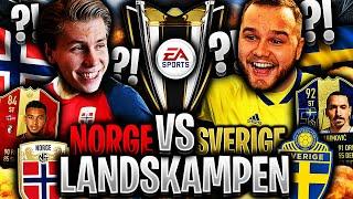 Årets STØRSTE LANDSKAMP mellom SVERIGE & NORGE på FIFA 19 🏆💥 **WAGER mot GGFROLLE**